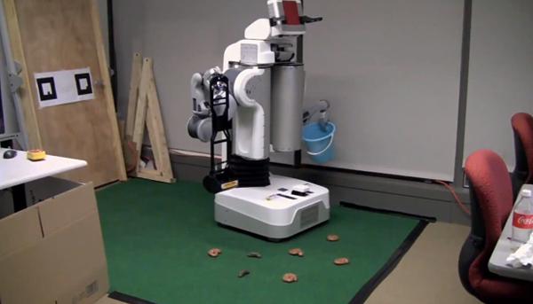 graspy pr2 robot poop scoop