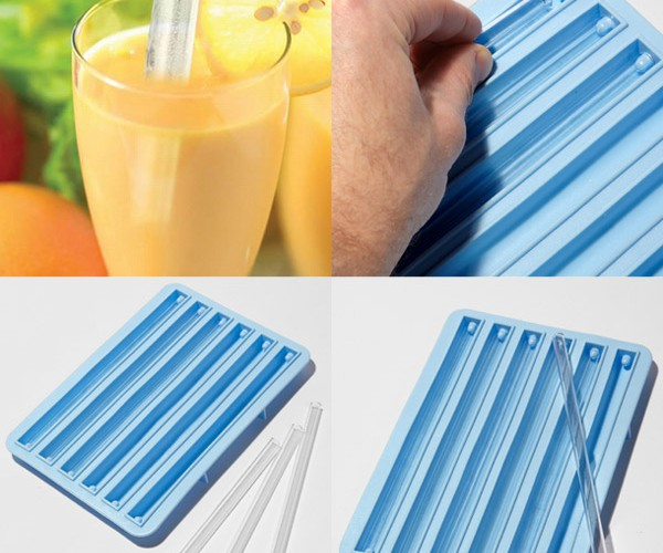 Ice Straws Mold Makes Ice Tubes, Not Ice Cubes