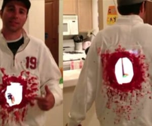 Last-Minute Costume Idea: Cut a Hole in Your Torso with Two iPad 2s