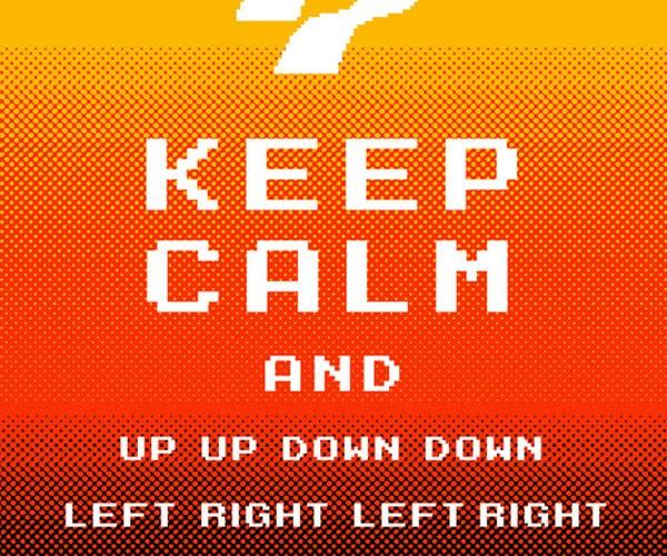 Keep Calm Konami: Hard to Panic When You've Got 30 Lives