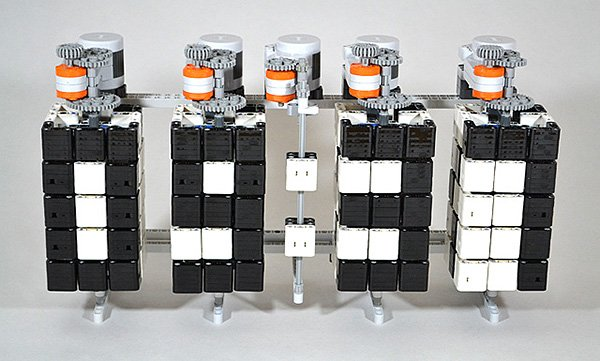 lego mindstorms time twister clock by hans andersson
