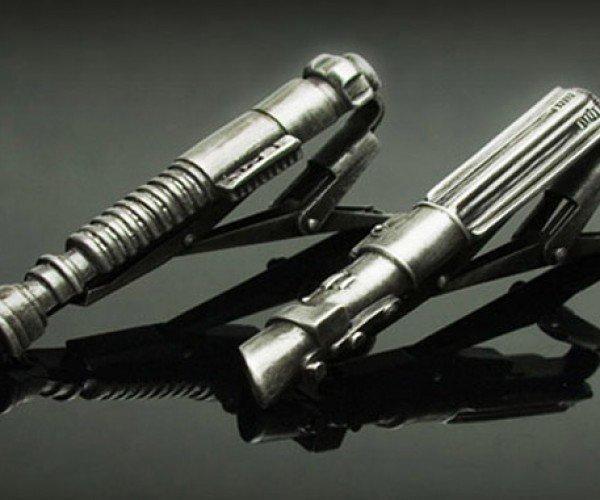 Lightsaber Tie Tacks Keep Your TIE from Fighting