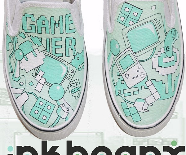mario handpainted shoes by inkheart 3