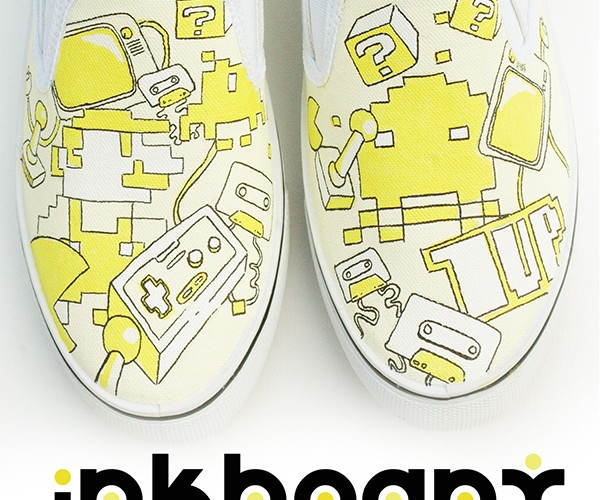 mario handpainted shoes by inkheart 4