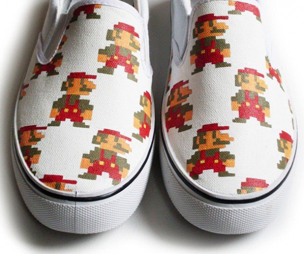 Stomp Goombas Stylishly with These Hand Painted Mario Shoes