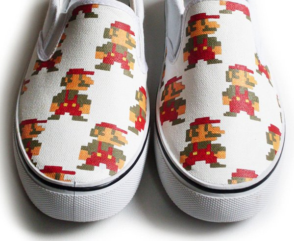 mario handpainted shoes by inkheart