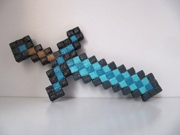 3d printer + 2 plastic units = real-world minecraft pickaxe &; sword