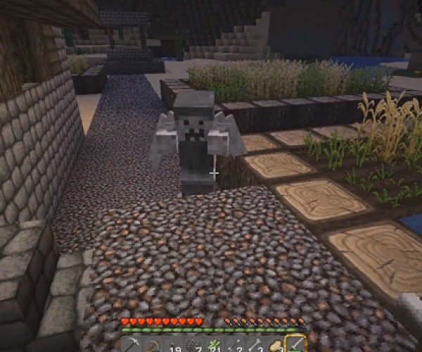 Minecraft Weeping Angels Mod Makes Creepers Like Winged Zombies