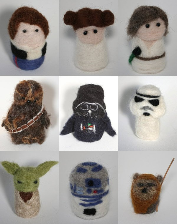 needle felted star wars