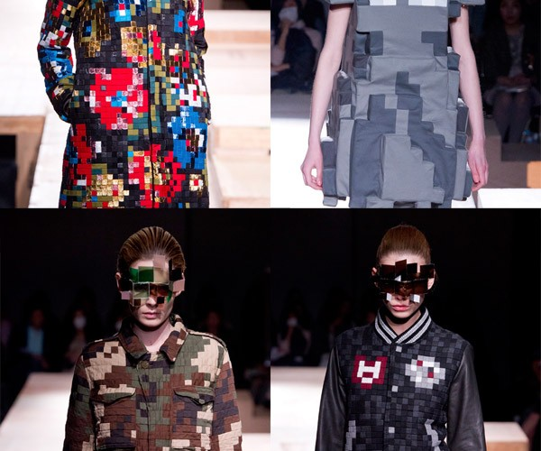 Anrealage Pixel Fashion Collection: 8-Bit Hits the Runway (and the Dining Room)