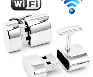 WiFi Hotspot & Flash Drive Cufflinks Connect More Than Your Cuffs