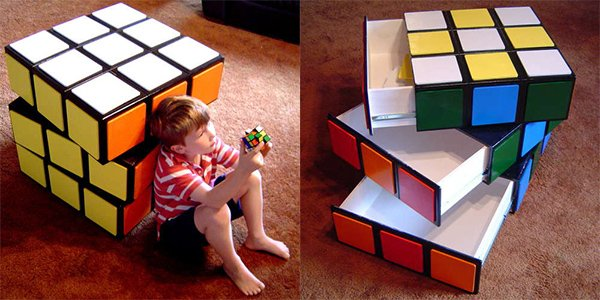 rubiks cube chest of drawers by makendo