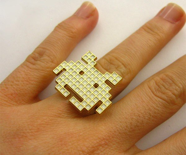 Space Invaders Pixel Ring: Way Better Than a Crummy Diamond