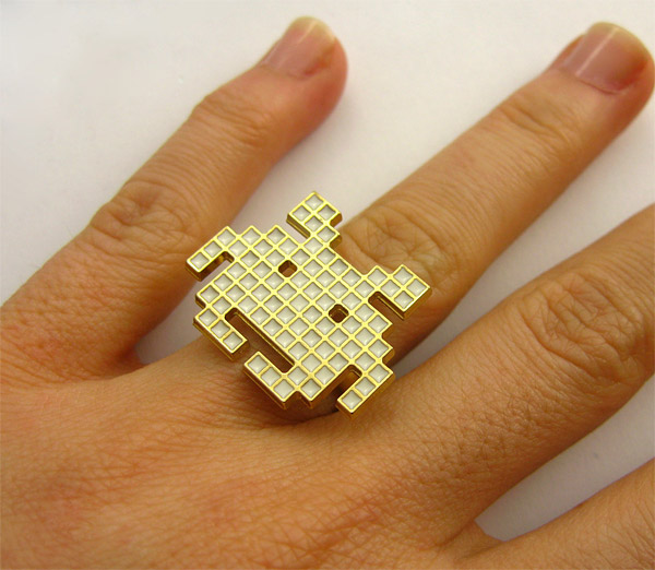 space invaders pixel ring 1