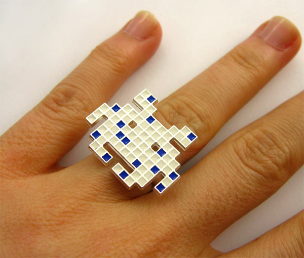 space invaders pixel ring 3