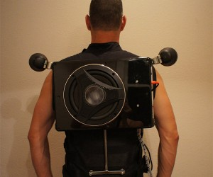 Wearable Boom Box is Literally Spine-Tingling