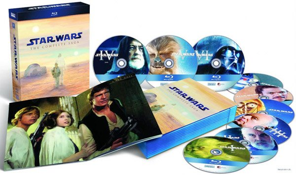 star wars blu ray discs