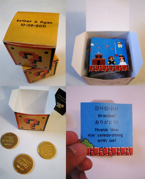 super mario wedding favors