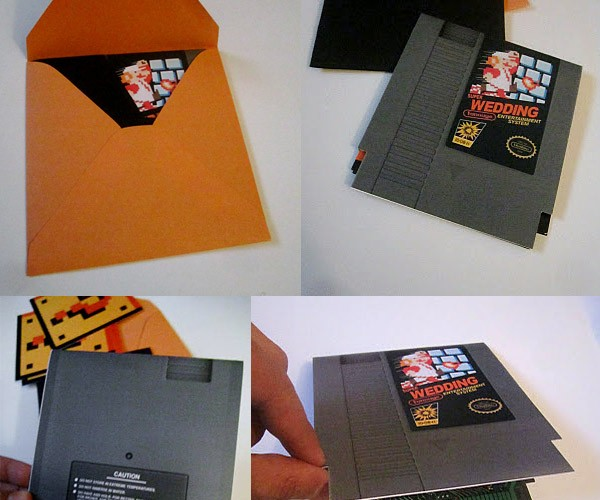 Super Mario Bros. Wedding Invitations: Will You-a Mario Me?