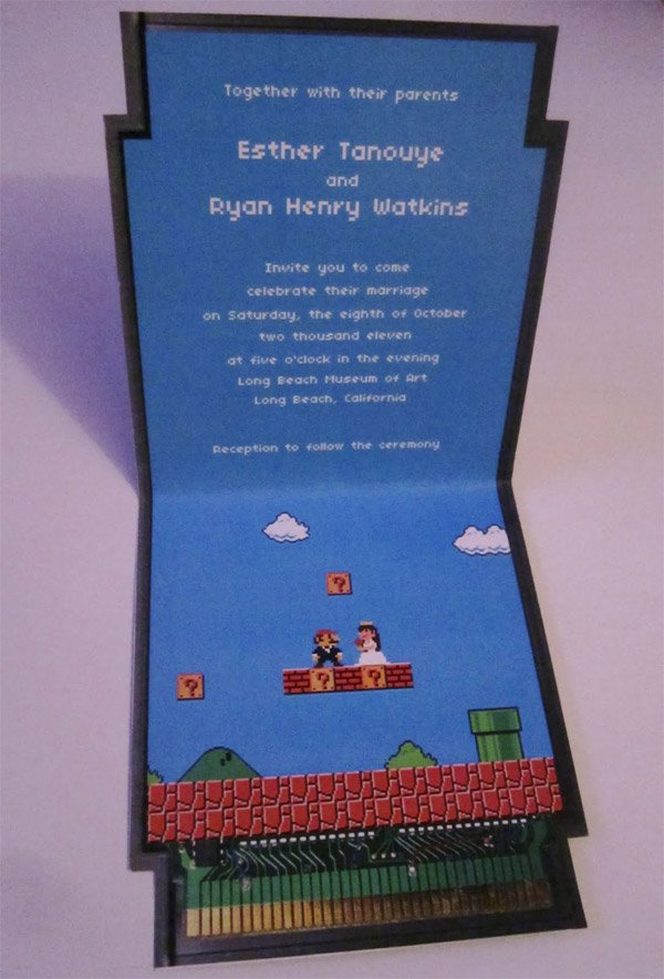 super mario wedding invitations 2