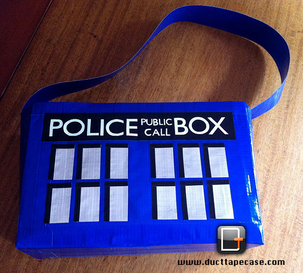 tardis duct tape bag by coregeek 2