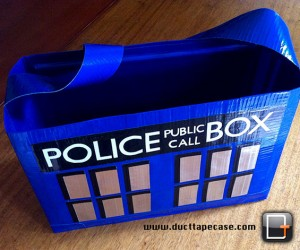 TARDIS Duct Tape Bag: Because Making an Entire Police Box Out of Duct Tape Would Be Too Hard