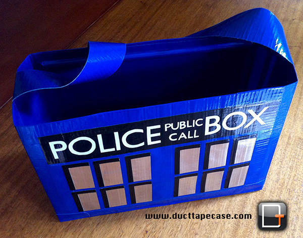 tardis duct tape bag by coregeek