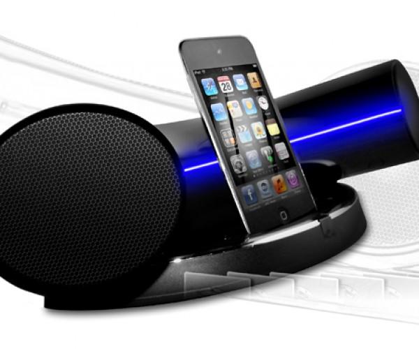 Speakal iKurv iPhone Dock: Looks Like A Futuristic Noodle