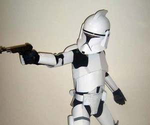 Cardboard Clone Trooper is a Perfect Clone