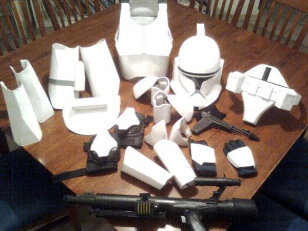 star wars clone trooper costume halloween cardboard cosplay