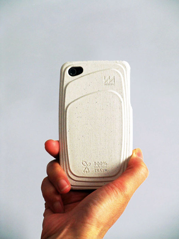 re-case miniwiz sustainable trash rice paper case iphone 4 4s