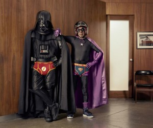 Darth Vader in His Underwear with His Evil Superhero Grandpa, Say What?