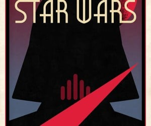 Darth Vader Silhouette Poster: Extra Dark-Sided