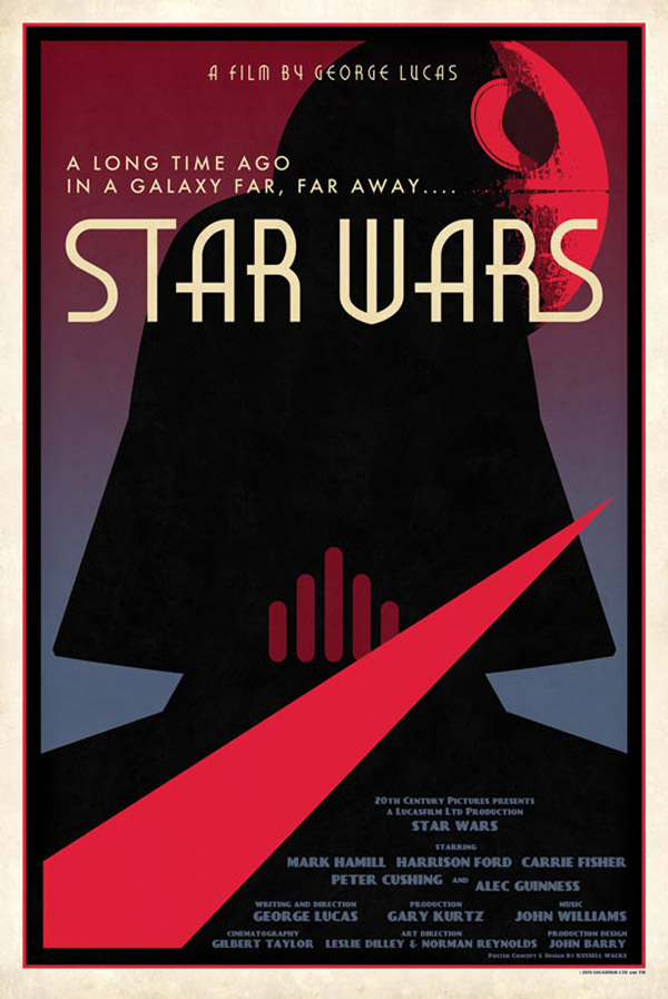 star wars russell walks poster design darth vader