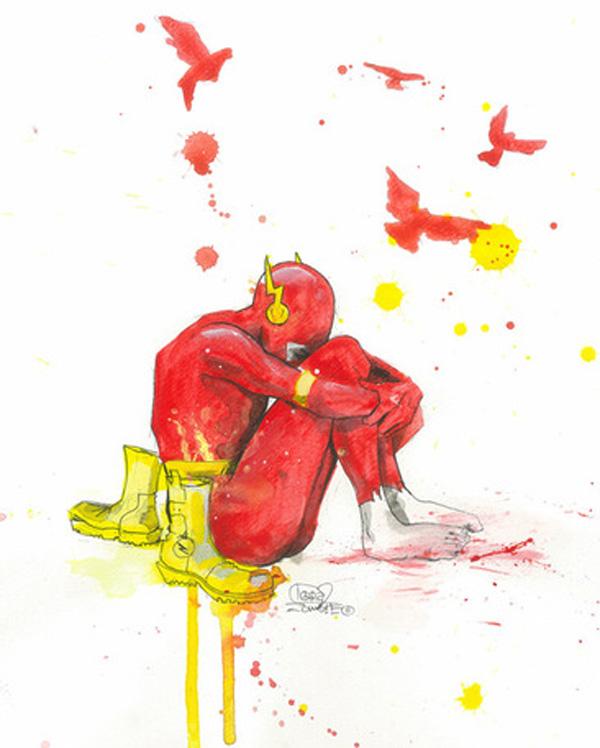 depressed dc comics superheroes lora zombie geek art