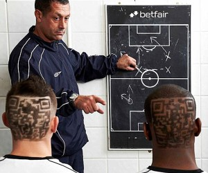 Footballers Get QR Codes Shaved into Their Heads