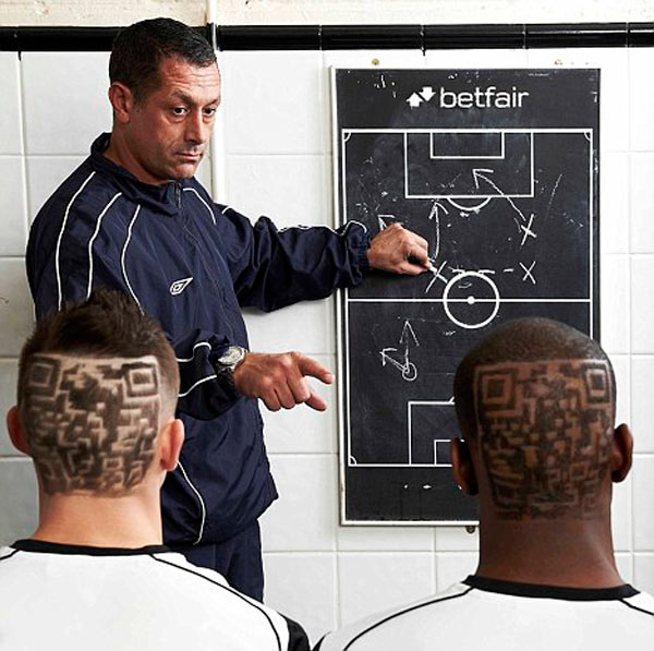 bromley fc footballers football soccer uk qr code hair