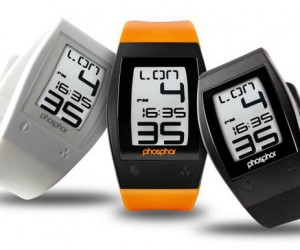 Phosphor World Time Sport E-Ink Watch Slims Down