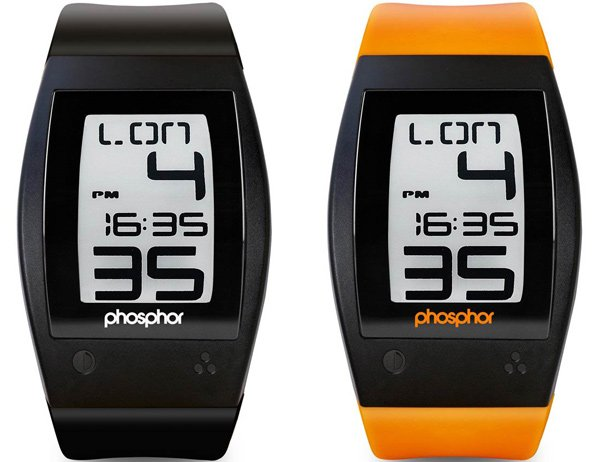 phosphor world time watch timepiece e-ink