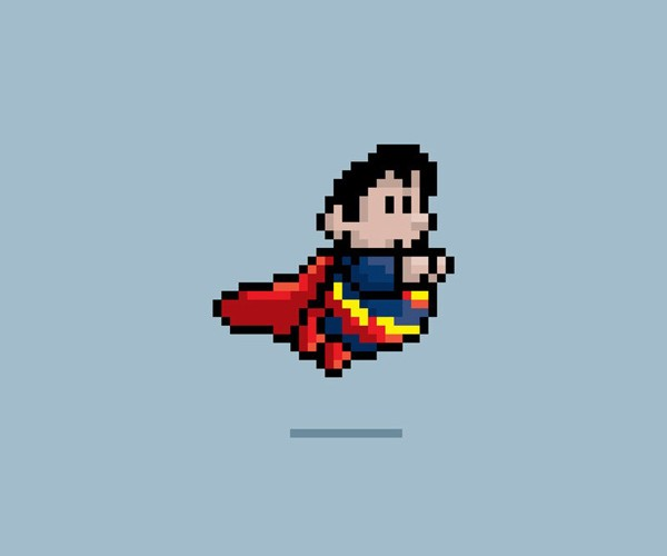 superheroes 8-bit jesus castaneda design retro video game