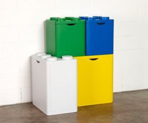 LEGO Recycling Bins for Giant Brick Builders