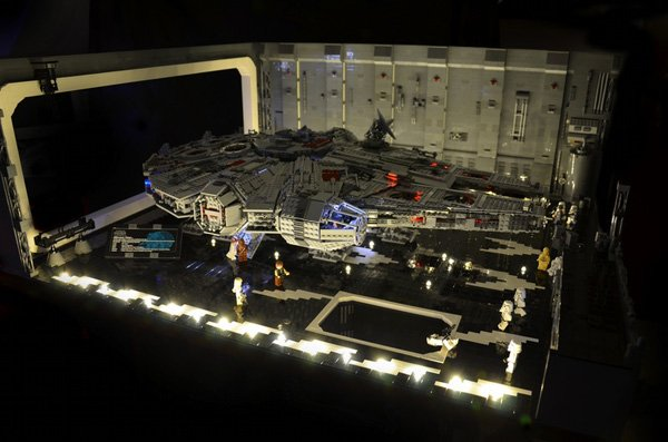 star wars diorama escape dock 327 dave lego f2