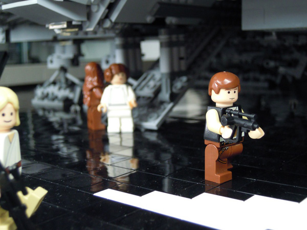star wars diorama escape dock 327 dave lego f2