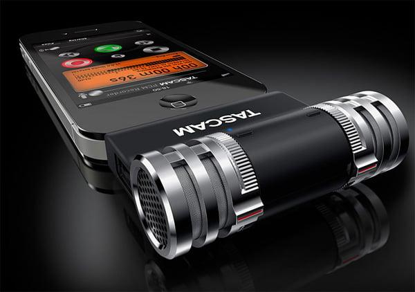tascam iphone ipod ipad recording microphone add-on ios im2
