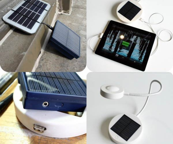 IKEA Sunnan Solar Lamp Modded Into iPad Charger