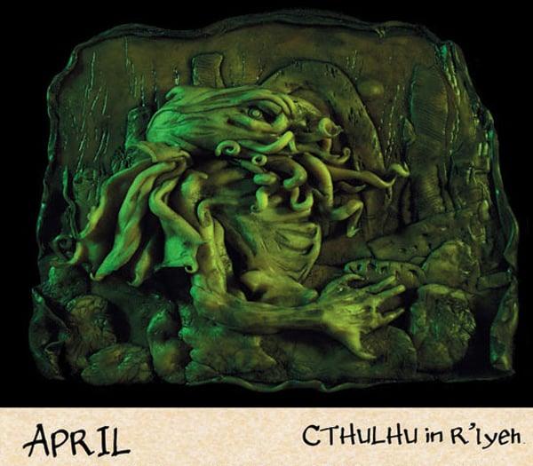 2012 cthulhu mythos calendar by daupo