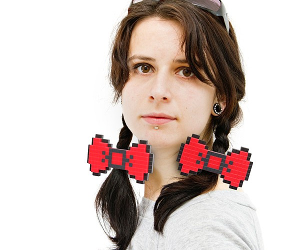 8-Bit Hair Bows: No More Bad Hair Days