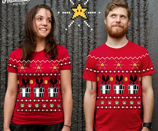 Super Mario Christmas Shirt Needs a Sweater Version