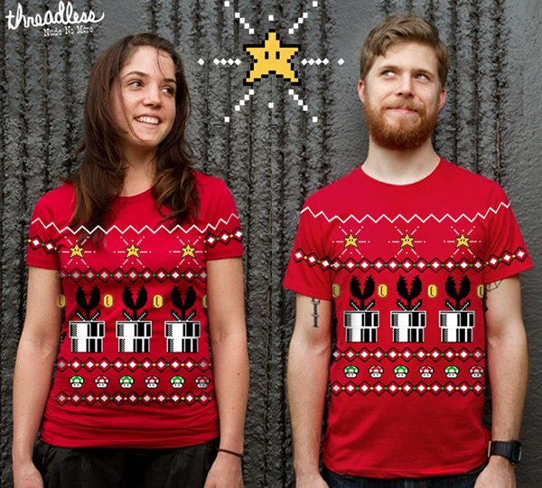 8bit christmas t shirt design by tim shumate