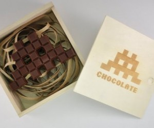 Space Invader Chocolate Bar: The Invasion Melts in Your Mouth, Not in Your Hand